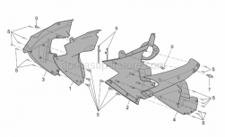 Frame - Front Body - Duct - Aprilia - RH internal fairing, black