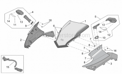 Frame - Front Body - Front Fairing - Aprilia - RH front fairing,silver