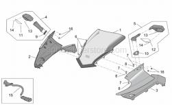 Frame - Front Body - Front Fairing - Aprilia - RH Turn indicator f.lens