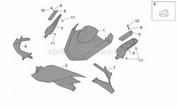 Frame - Front Body -Lockups - Aprilia - Plastic rivet