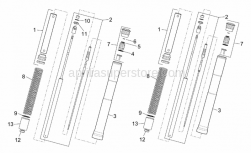 Frame - Front Fork I - Aprilia - O-ring