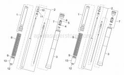 Frame - Front Fork I - Aprilia - Plunger attachment bush
