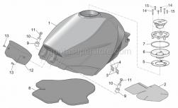 Frame - Fuel Tank - Aprilia - Fuel tank, silver