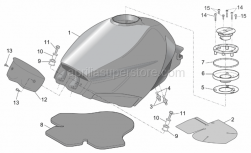 Frame - Fuel Tank - Aprilia - Cap seal