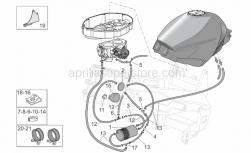 Frame - Fuel Vapour Recover System - Aprilia - Hose clamp D9,1*