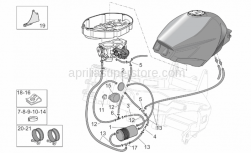 Frame - Fuel Vapour Recover System - Aprilia - Clip M6
