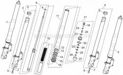 Frame - Marzocchi Front Fork - Hubs, Sleeves - Aprilia - Plunger, complete