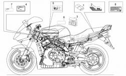 Frame - Plate Set-Decal-Op.Handbooks - Aprilia - Operator's handbook -USA-