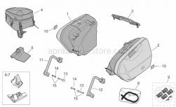 Frame - Side Cases - Aprilia - RH top support kit, met.Grey