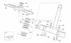 Frame - Steering - Aprilia - Brake hose hanger