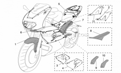 Accessories - Acc. - Special Body Parts - Aprilia - LH side fairing Carb 98-00Mille