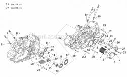 Engine - Crankcases II - Aprilia - Oil filter cover
