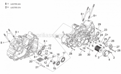 Engine - Crankcases Ii - Aprilia - Ball bearing 6304