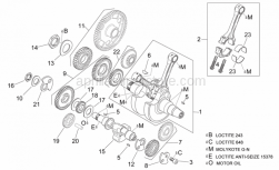 Engine - Crankshaft I - Aprilia - Clutch side counterweight