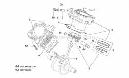 Engine - Crankshaft Ii - Aprilia - Piston assy 96,956 mm (B)