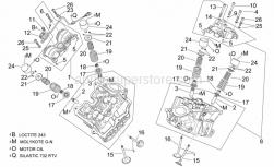 Engine - Cylinder Head And Valves - Aprilia - Valve stem seal