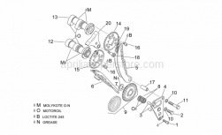 Engine - Front Cylinder Timing System - Aprilia - Chain guide