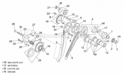 Engine - Rear Cylinder Timing System - Aprilia - Hex screw