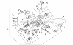 Engine - Throttle Body - Aprilia - Injection valve cpl.