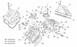 Engine - Valves Cover - Aprilia - Front valves cover