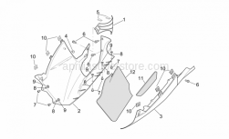 Frame - Central Body - Lower Fairings - Aprilia - Screw w/ flange