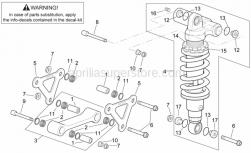Frame - Connecting Rod - Rear Shock Abs. - Aprilia - Screw w/ flange M10x65