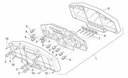 Frame - Dashboard - Aprilia - Lampholder, complete 12v/2w