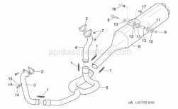 Frame - Exhaust Pipe - Aprilia - Exhaust pipe gasket