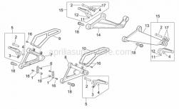 Frame - Foot Rests - Aprilia - LH footrest support