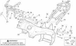 Frame - Frame I - Aprilia - Instrum.holder frame