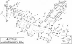 Frame - Frame I - Aprilia - Screw w/ flange M6x20