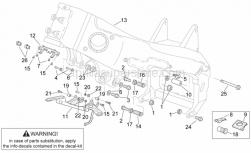 Frame - Frame II - Aprilia - LH front engine spacer
