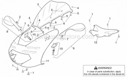 Frame - Front Body - Front Fairing - Aprilia - Front fairing-dashboard lockup
