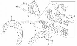 Frame - Front Brake Caliper - Aprilia - RH front brake caliper, red