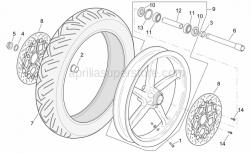 Frame - Front Wheel - Aprilia - Front LH whe.ou.spacer