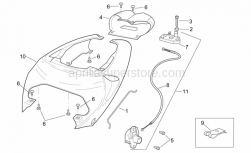 Frame - Rear Body - Rear Fairing - Aprilia - Saddle release cable