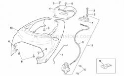 Frame - Rear Body - Rear Fairing - Aprilia - Saddle lock cpl.