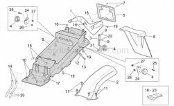 Frame - Rear Body - Undersaddle - Aprilia - Screw w/ flange M5x16