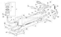 Frame - Rear Master Cylinder - Aprilia - Gear selector fork clips