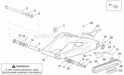 Frame - Swing Arm - Aprilia - Gasket ring