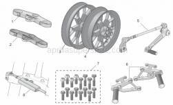Accessories - Acc. - Cyclistic Components I - Aprilia - Screw kit, 16 screws Titan
