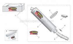 Accessories - Acc. - Performance Parts I - Aprilia - Exhaust unit KIT Akra Mono,currently ABOLISHED BY Aprilia