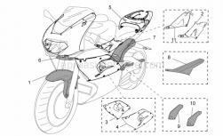 Accessories - Acc. - Special Body Parts - Aprilia - Rear fairing assy. Carb.