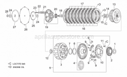 Engine - Clutch - Aprilia - Hex screw