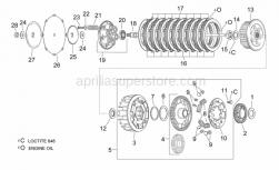 Engine - Clutch - Aprilia - Pressure plate