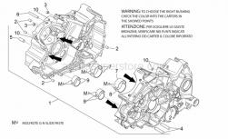 Engine - Crankcases I - Aprilia - Bushing half-shell, red