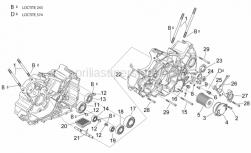 Engine - Crankcases II - Aprilia - Oil filter cover grey