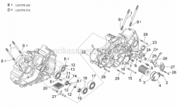 Engine - Crankcases II - Aprilia - Chain guide