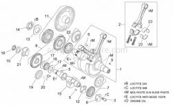 Engine - Crankshaft I - Aprilia - Transmission key 6x9