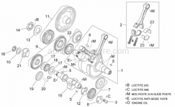 Engine - Crankshaft I - Aprilia - Clutch side counterweight